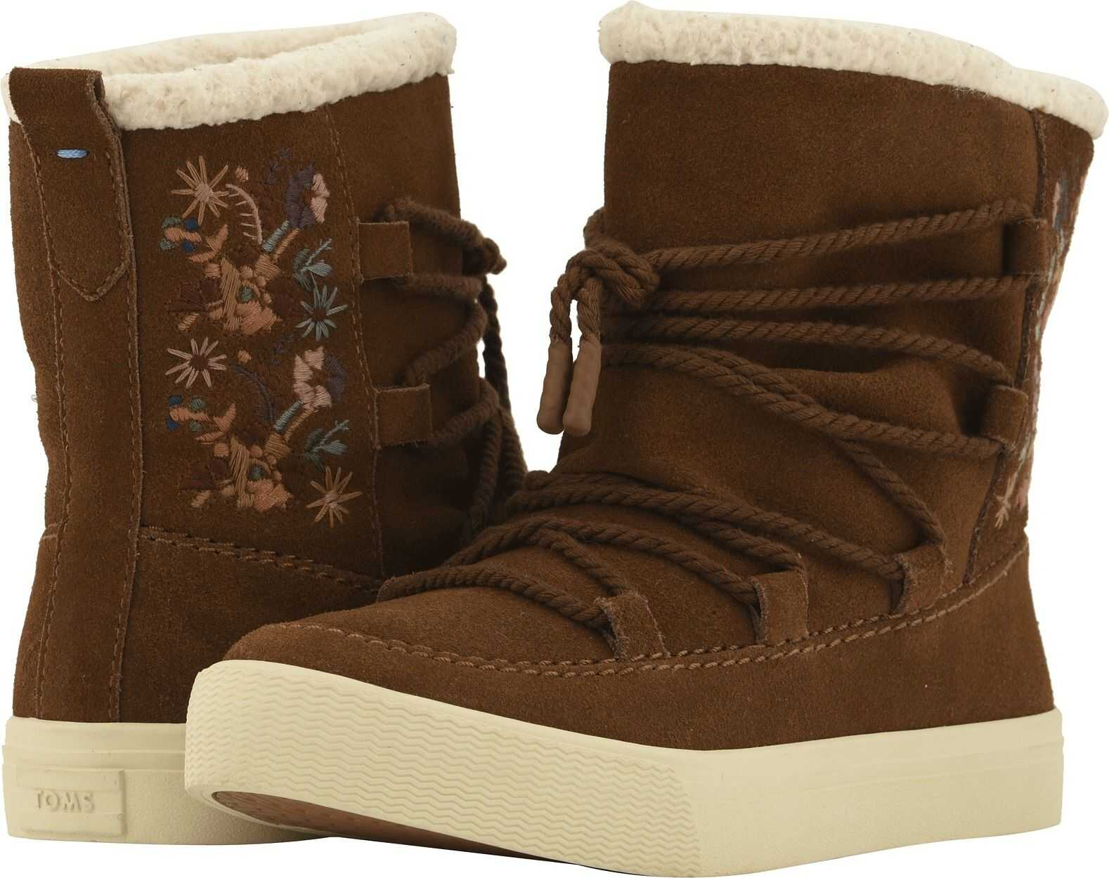 TOMS Alpine Water-Resistant Boot* Dark Amber Suede/Faux Sherling