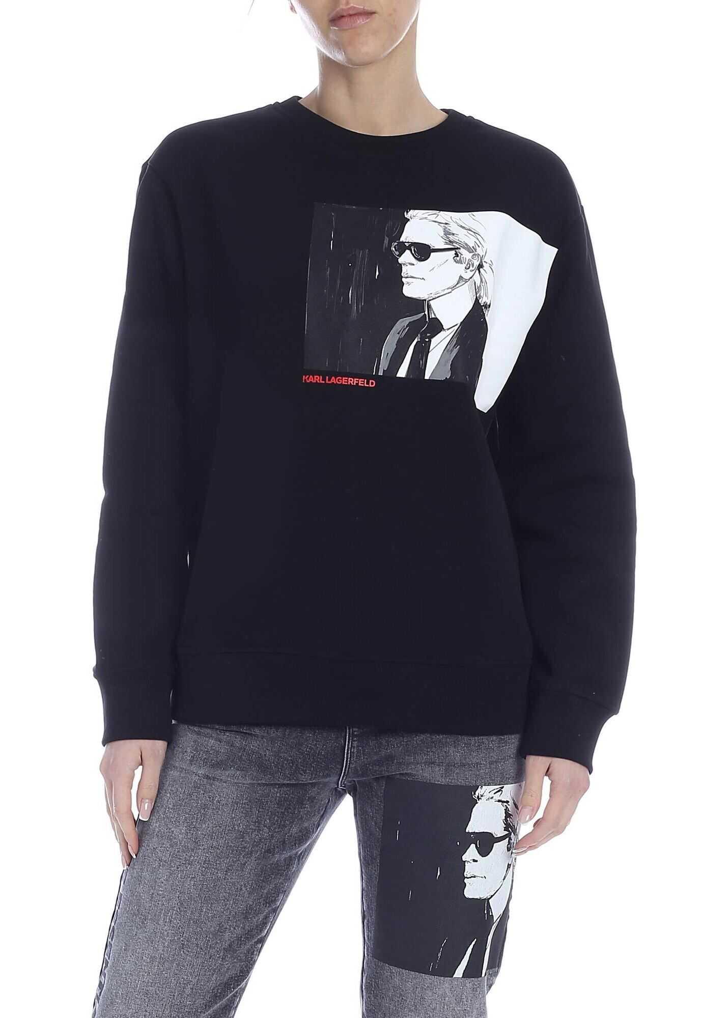 Karl Lagerfeld Karl Legend Sweatshirt In Black Black