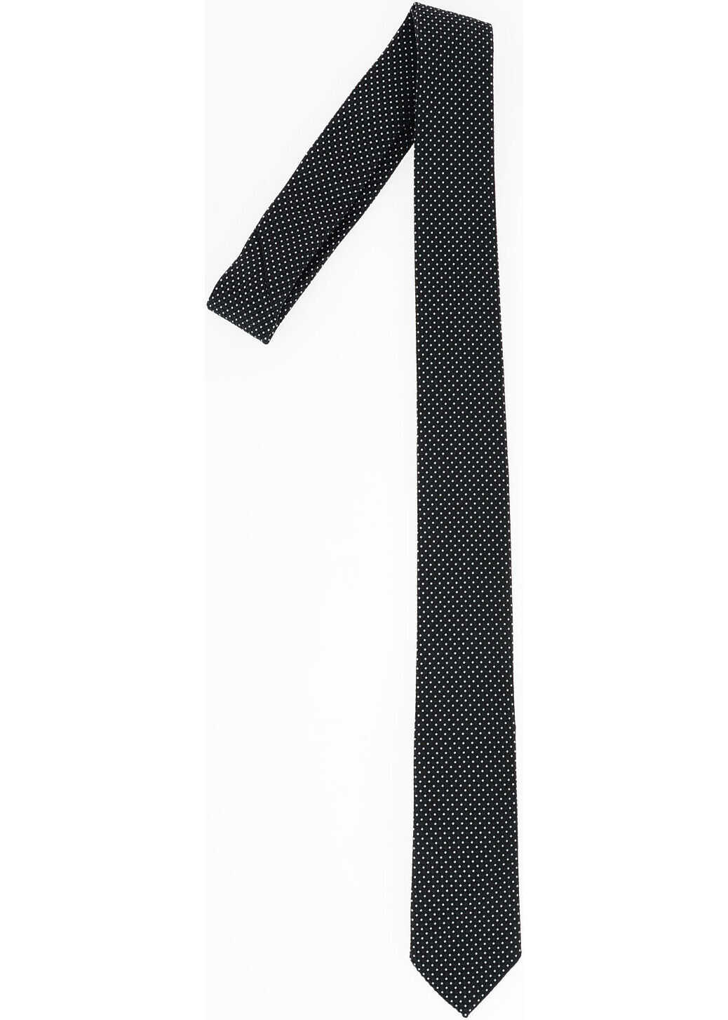 Armani EMPORIO Polka Dots Tie BLACK & WHITE