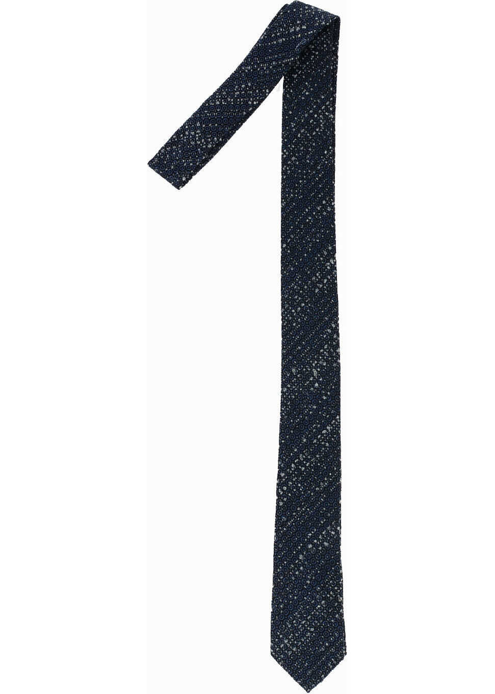 Armani EMPORIO Wool And Silk Tie BLUE
