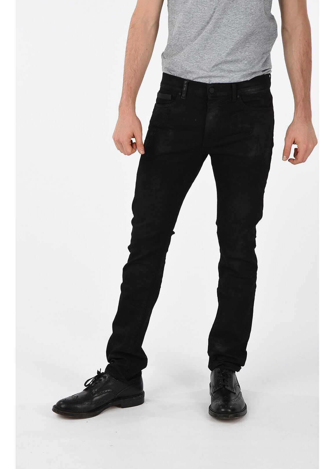 Marcelo Burlon Stretch Denim Jeans 19 cm BLACK