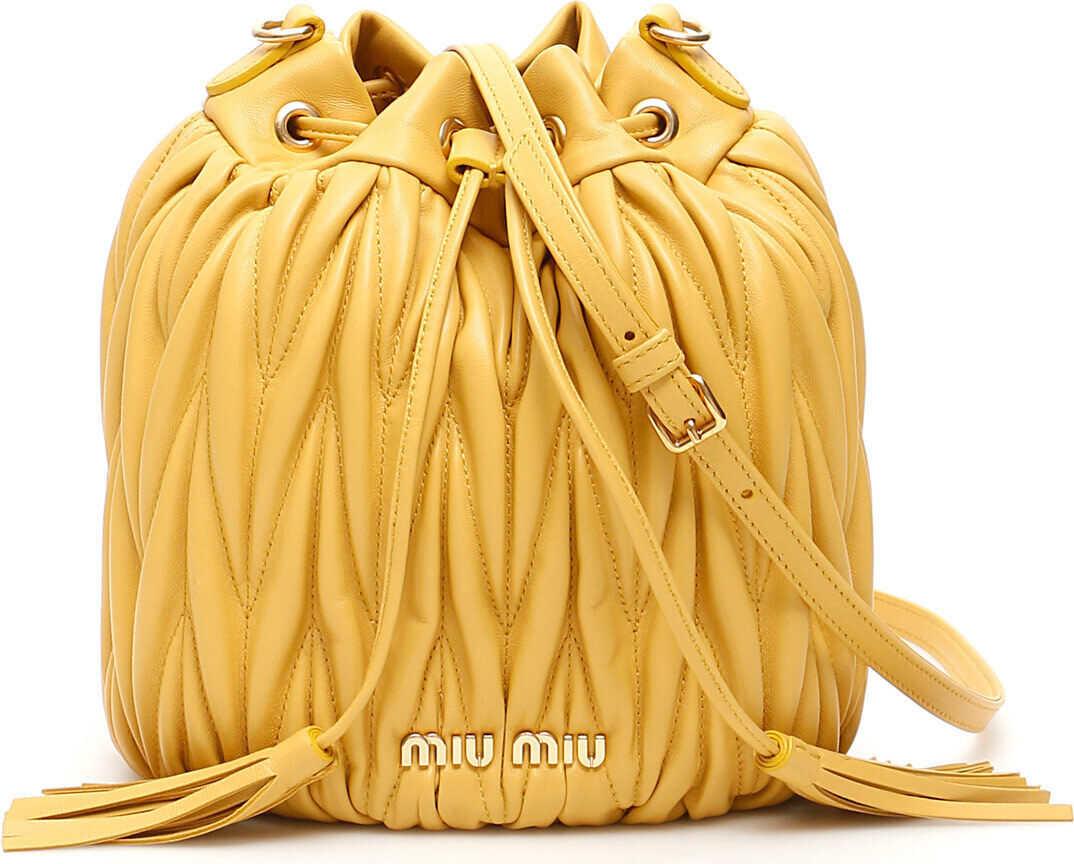 Miu Miu Quilted Bucket Bag GINESTRA