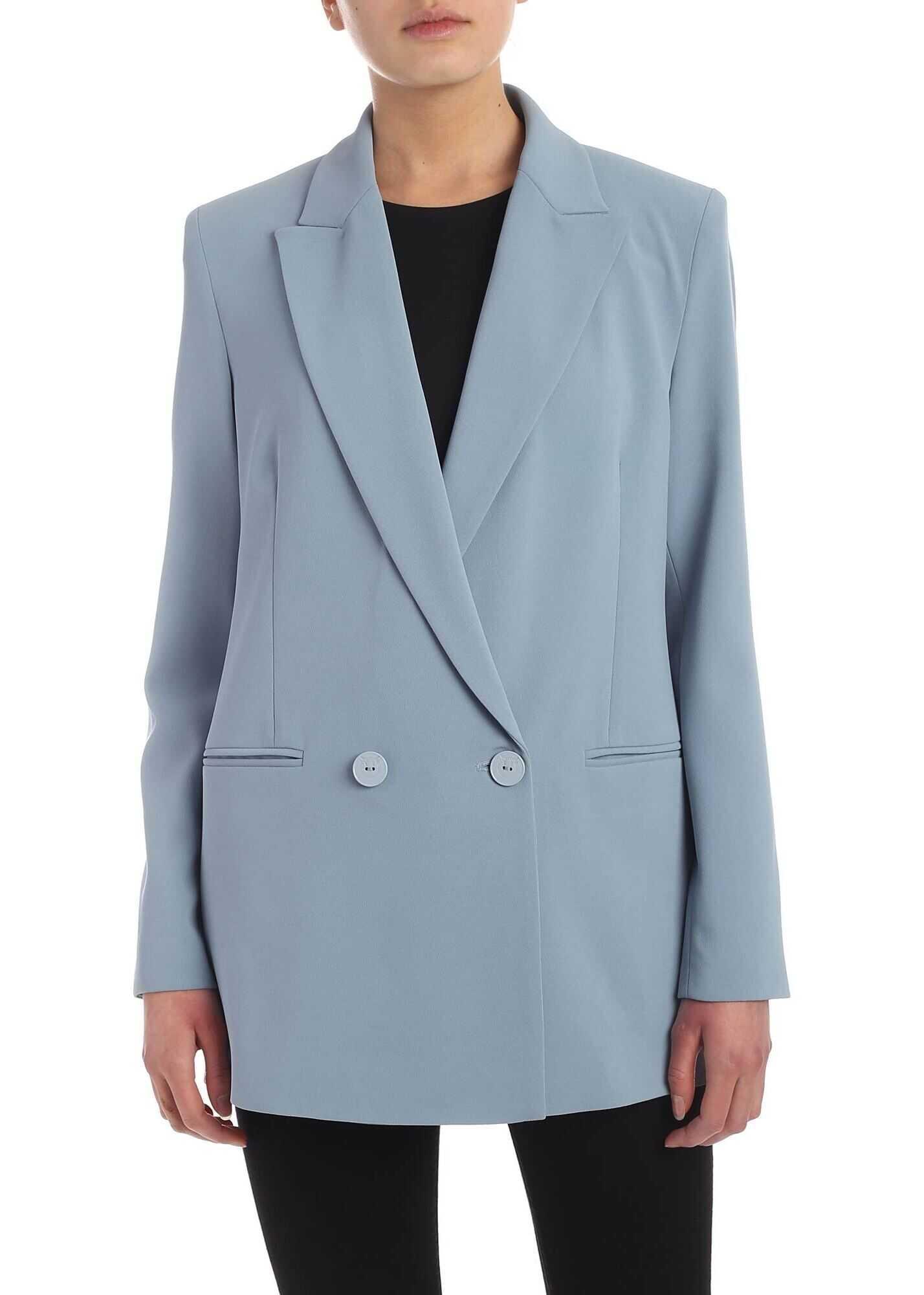 Pinko Bavarese 1 Jacket In Pale Blue Color Light Blue