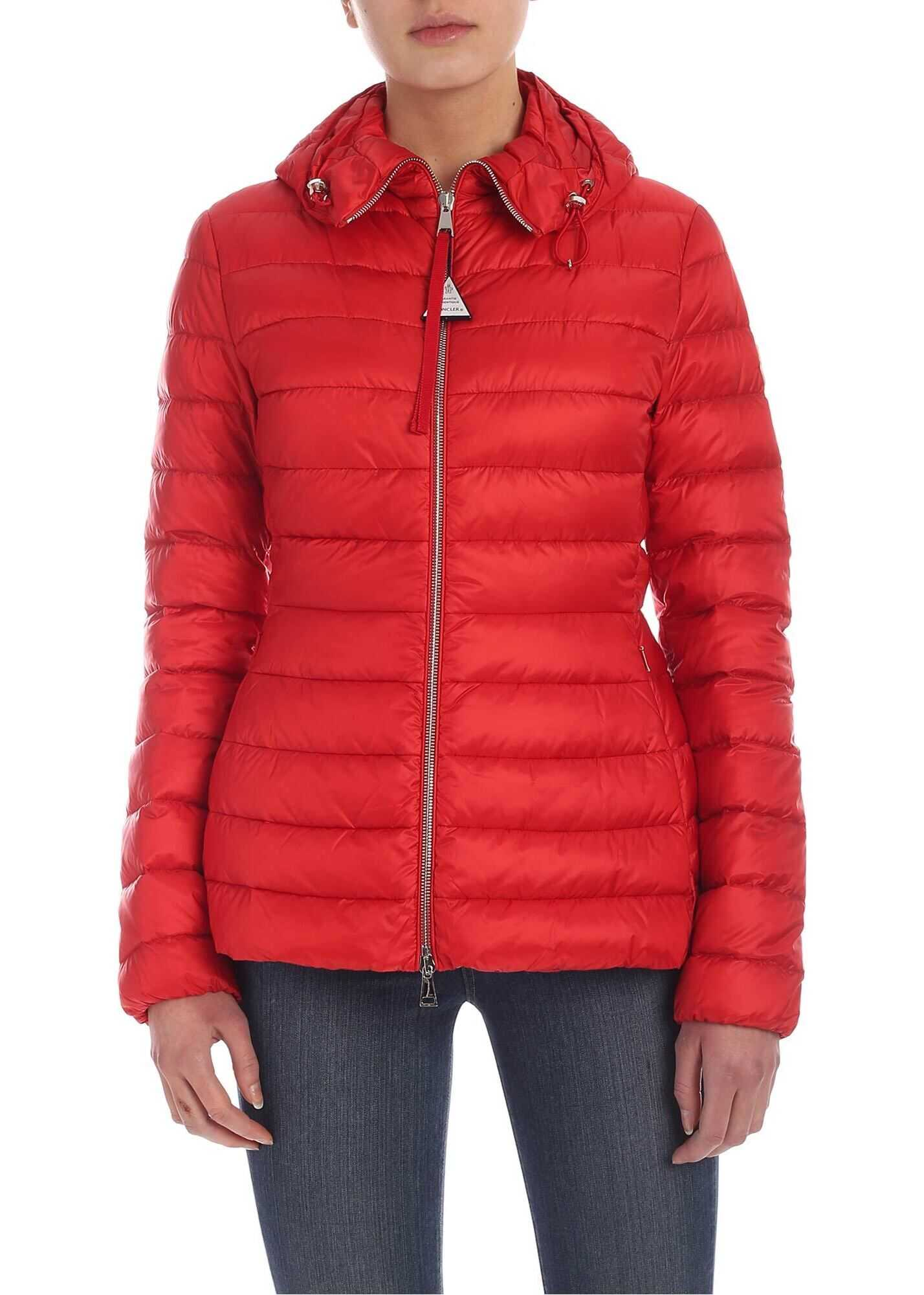 Moncler Amethyste Down Jacket In Red Red