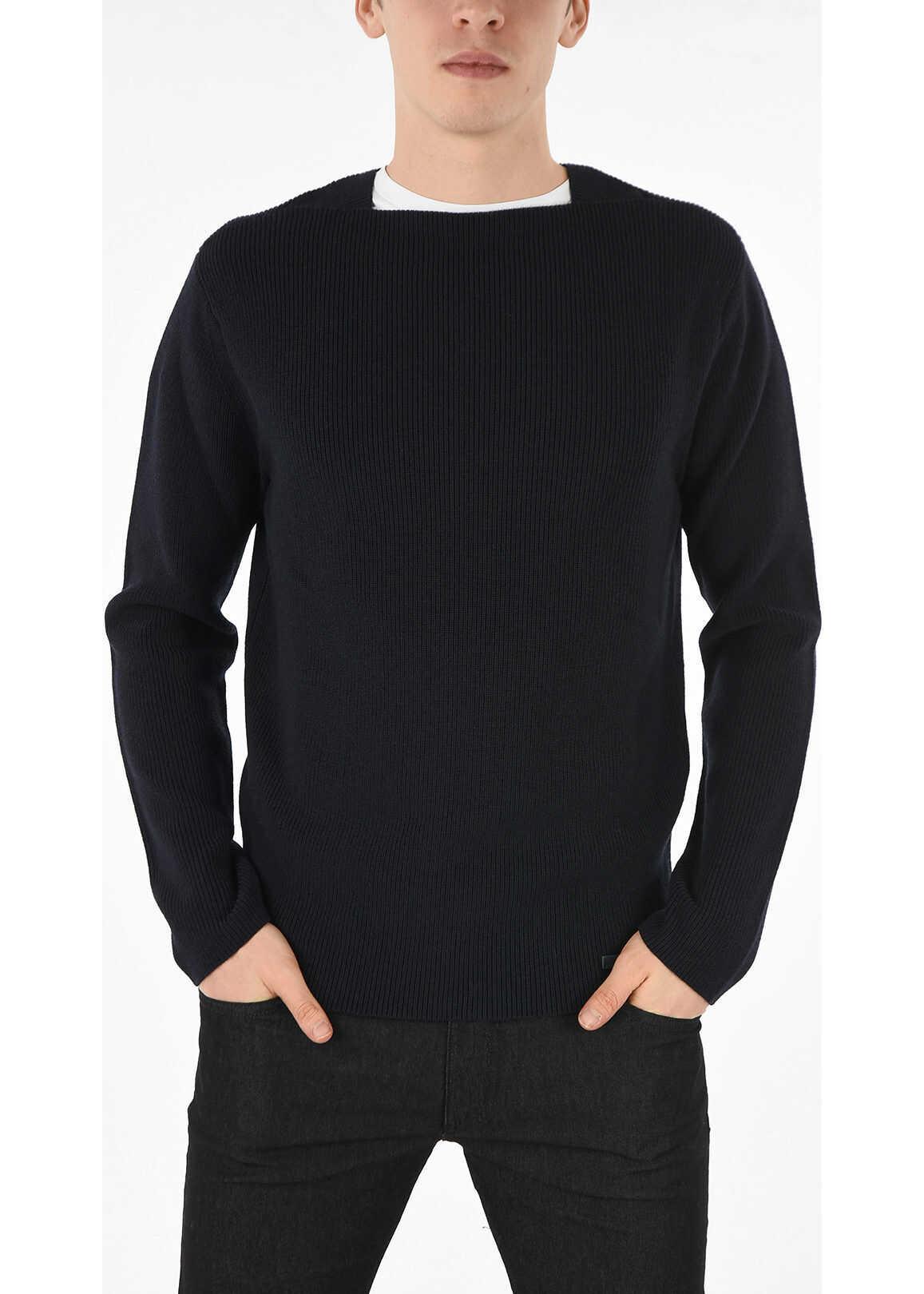 Armani EMPORIO Virgin Wool Sweater BLUE