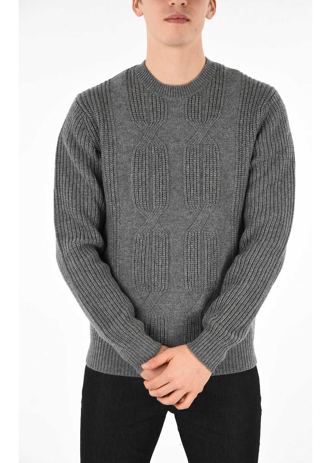 Armani EMPORIO Wool and Cashmere Sweater GRAY