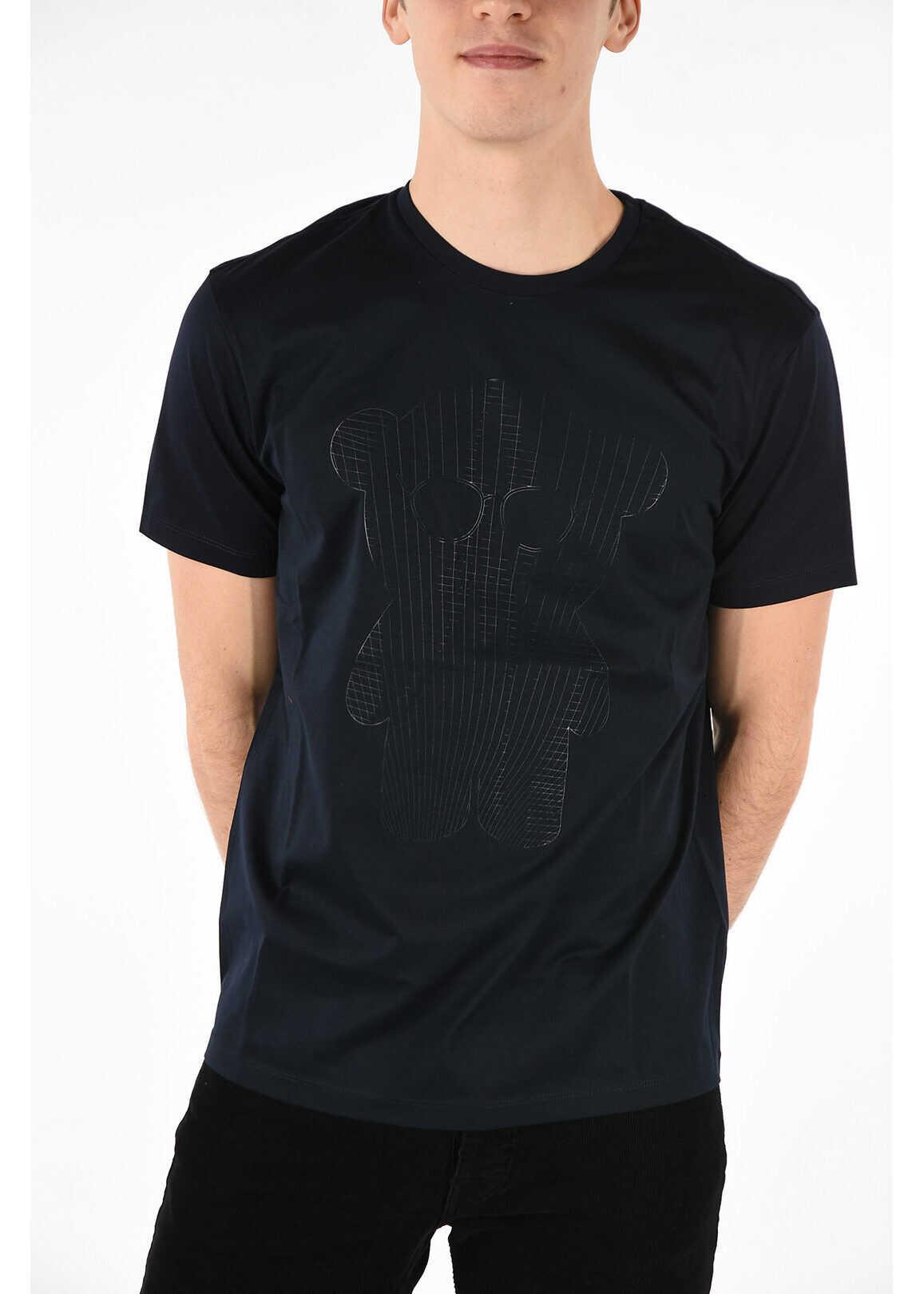 Armani EMPORIO Teddy Bear Printed T-shirt BLUE