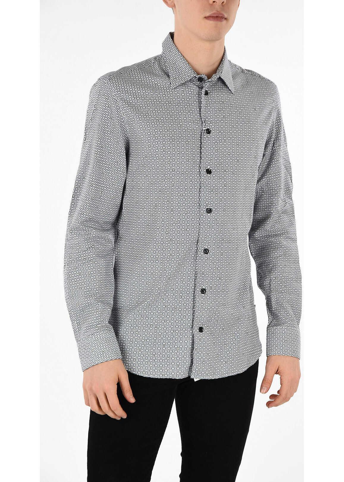 Armani COLLEZIONI Geometric Printed Shirt MULTICOLOR