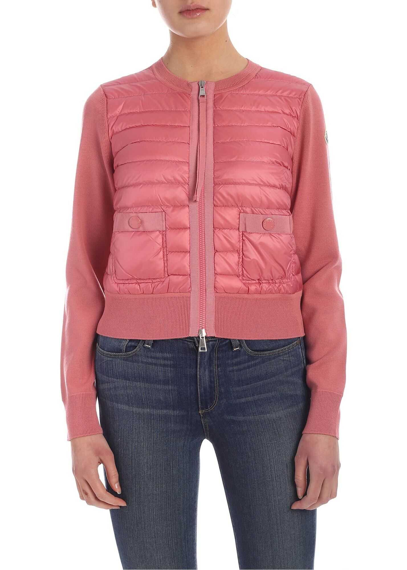 Padded Insert Cardigan In Pink thumbnail