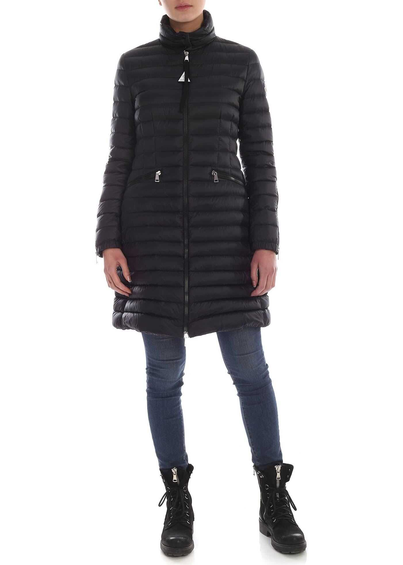 Moncler Sable Down Jacket In Black Black