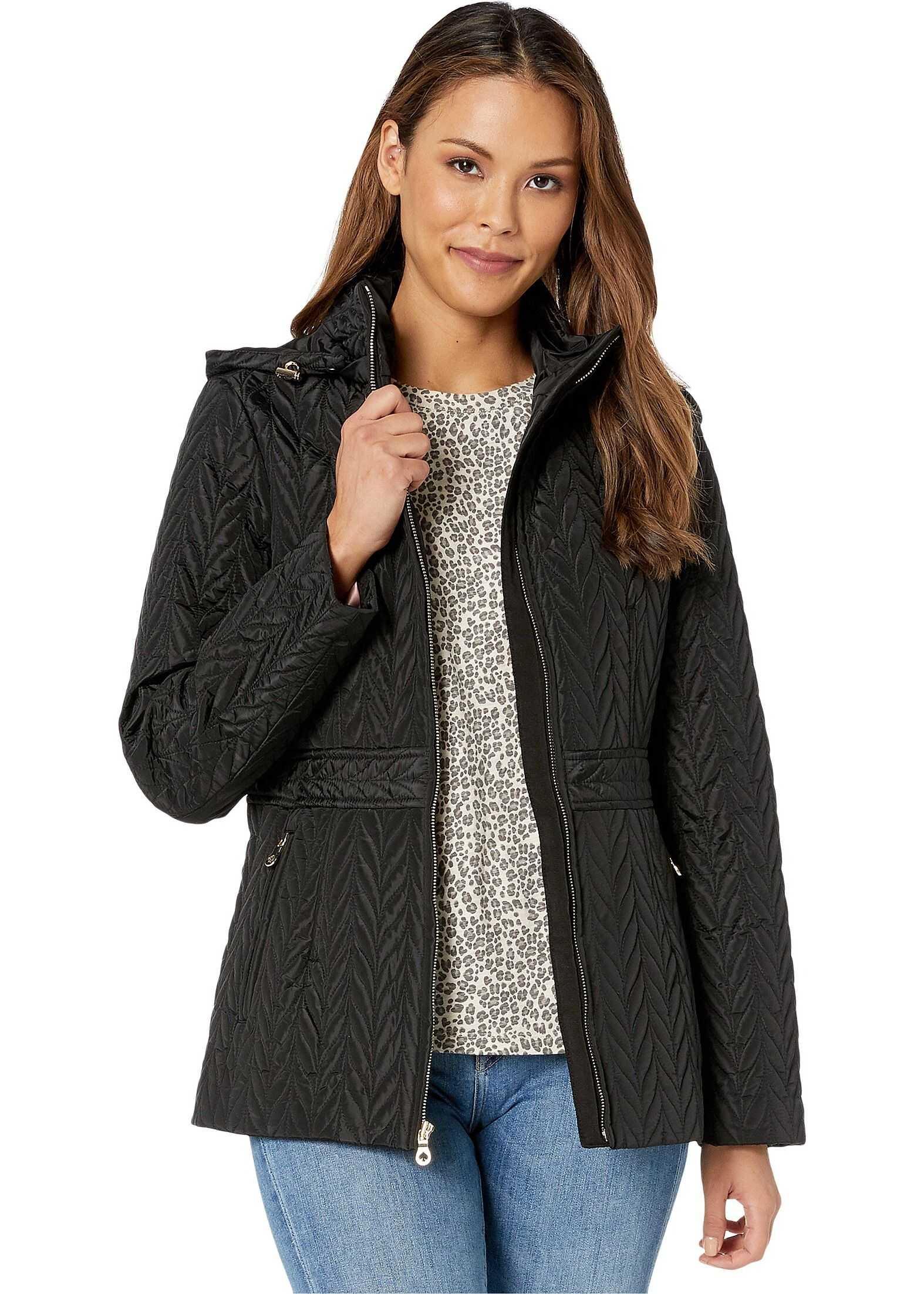 Kate Spade New York Hooded Zip-Up Black