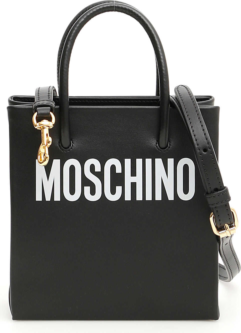Moschino Mini Shopper With Logo FANTASIA NERO