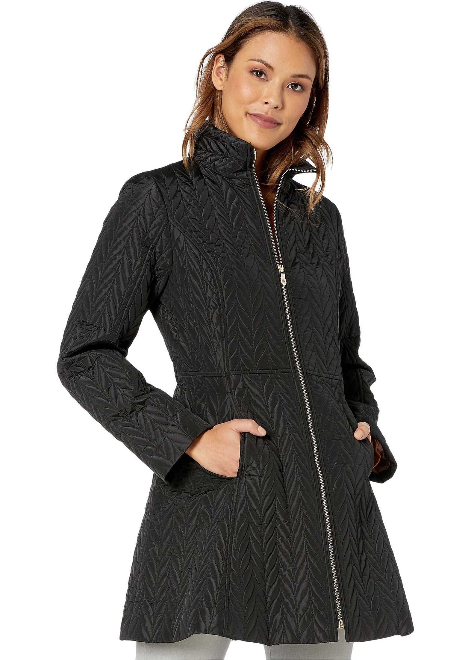 Kate Spade New York Quilted Long Jacket Black