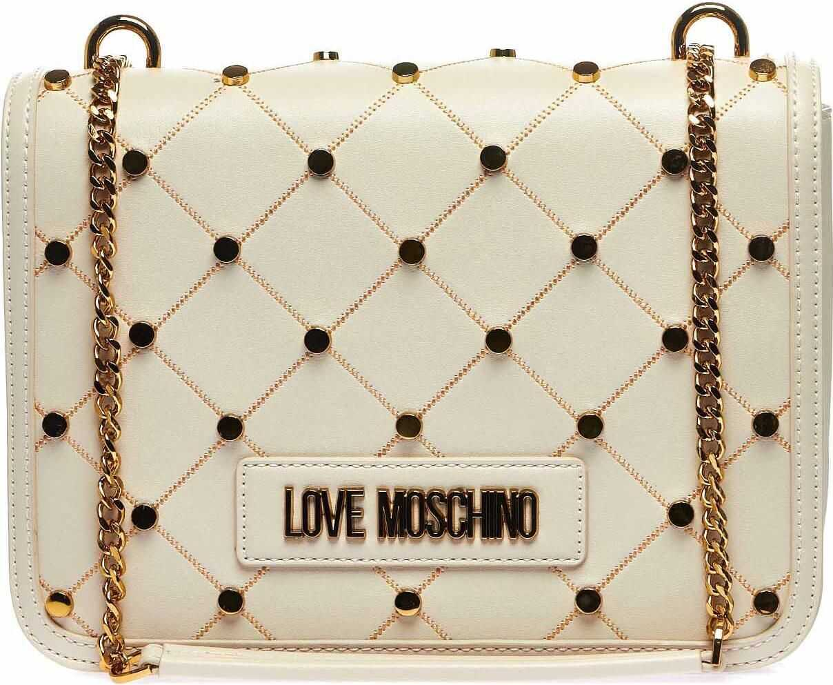 LOVE Moschino Shoulder bag with studs Beige