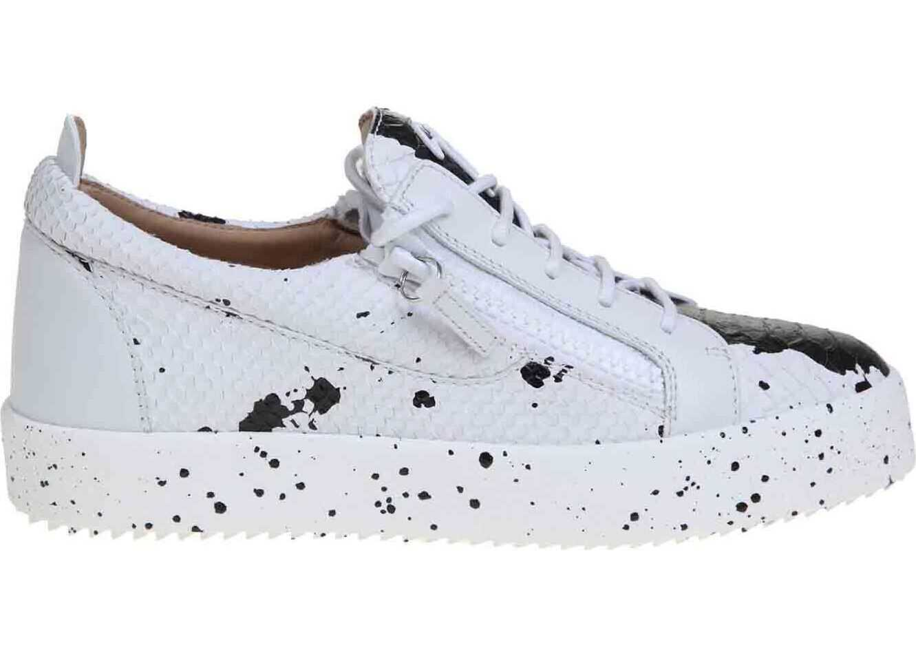 May Sneakers In White With Black Spots thumbnail