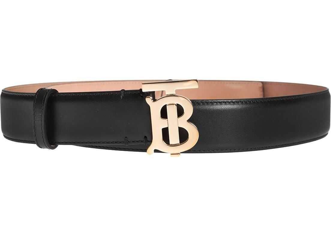 Burberry Monogram Motif Belt In Black Black