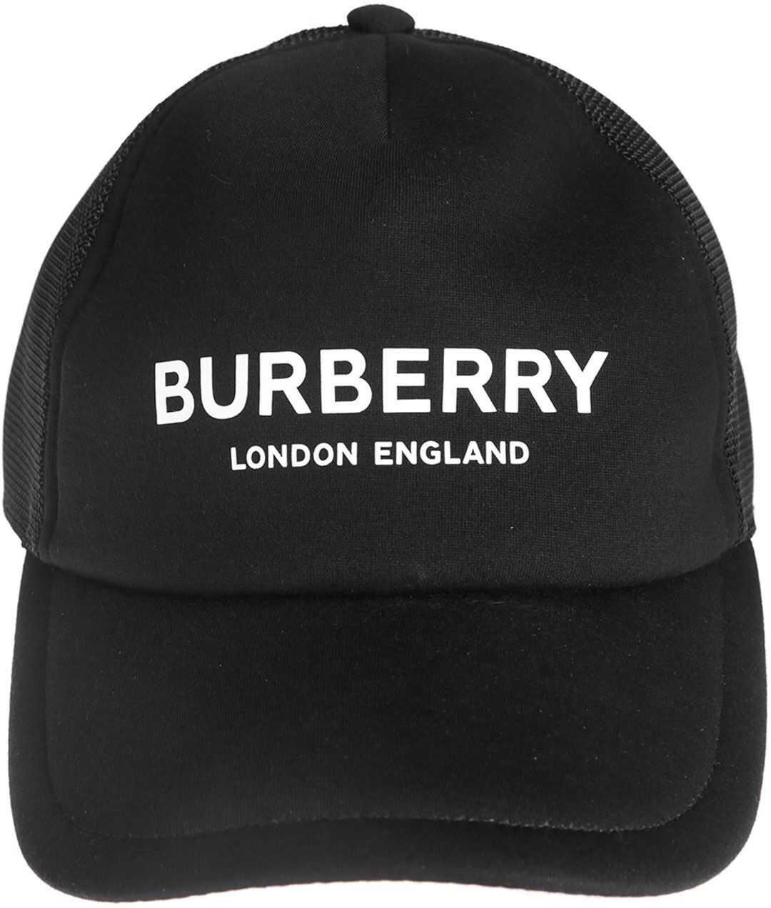 Burberry Logo Print Baseball Cap In Black Black