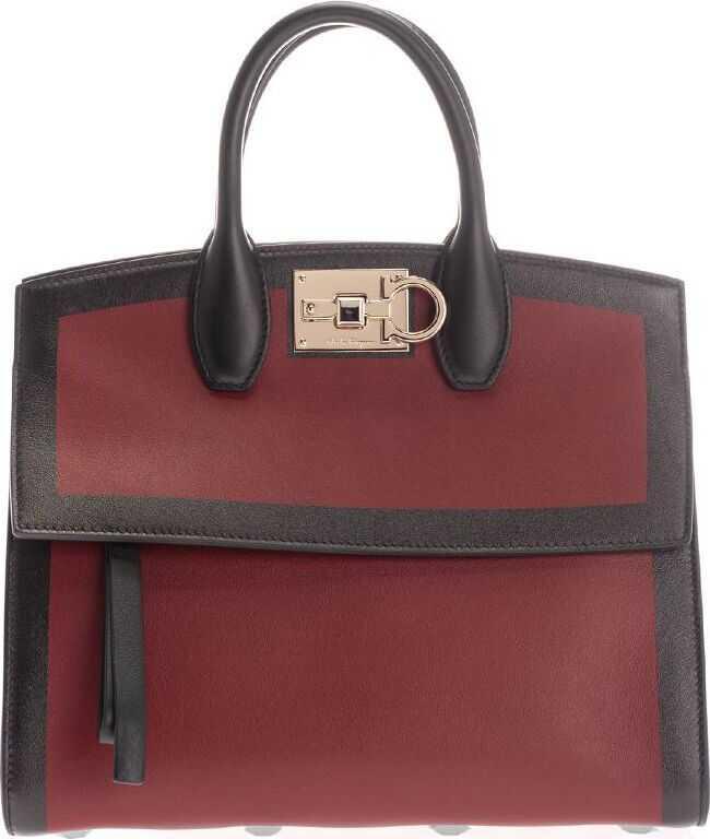 Salvatore Ferragamo Leather Handbag BURGUNDY
