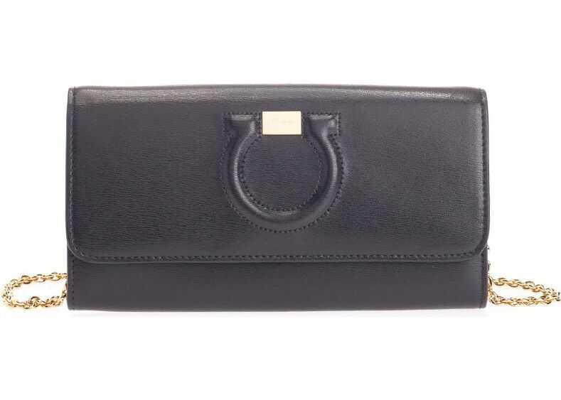 Salvatore Ferragamo Leather Wallet BLACK