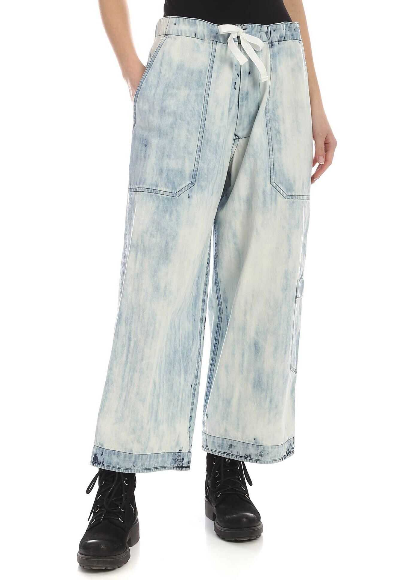 Bleach Effect Jeans In Light Blue thumbnail