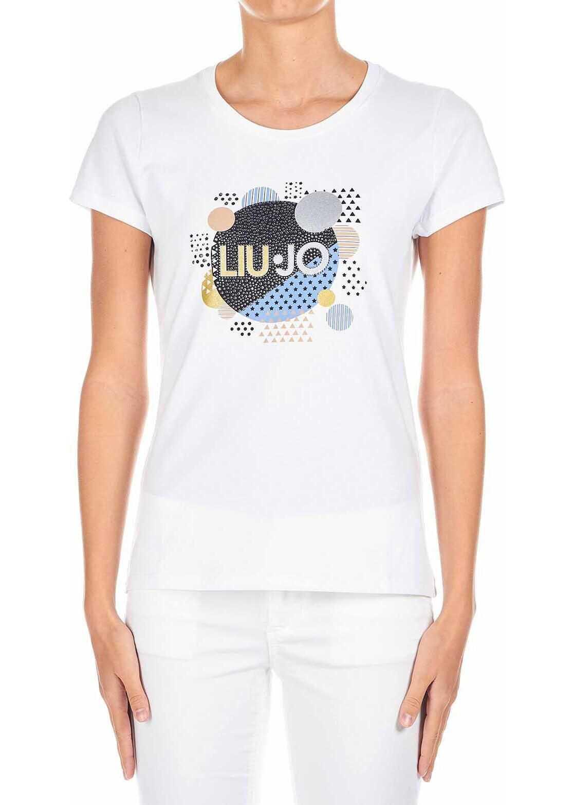 Liu Jo T-Shirt with logo-print White