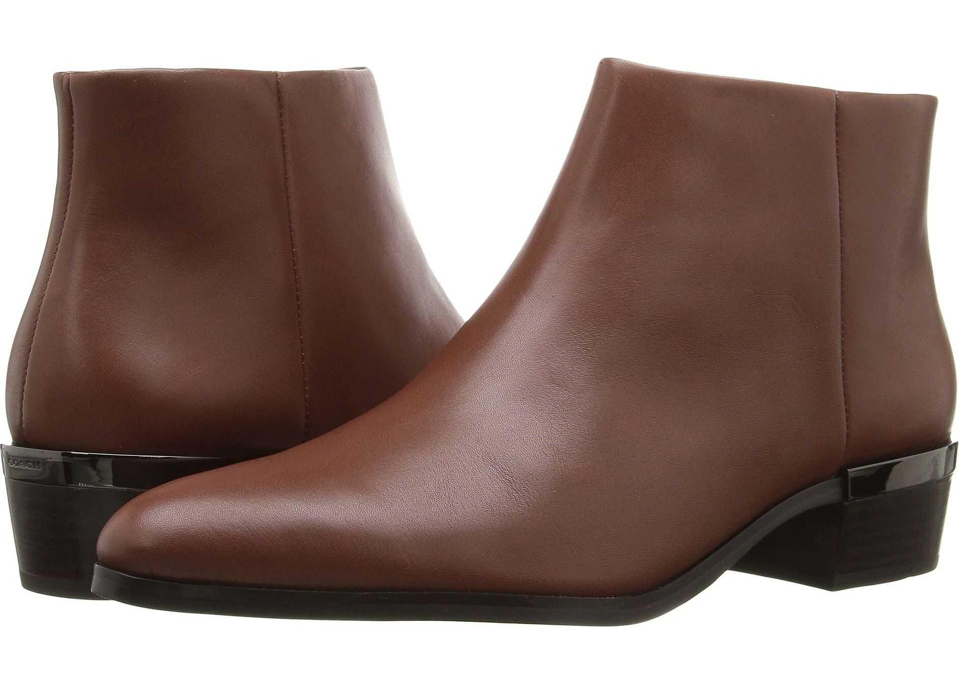 COACH Montana* Dark Saddle Soft Veg Leather