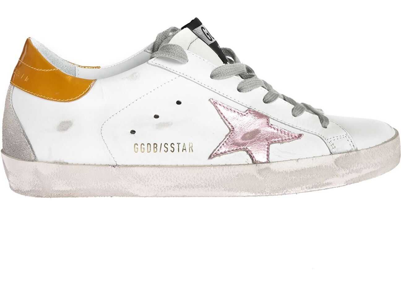 Golden Goose Superstar Sneakers In White With Shiny Logo White