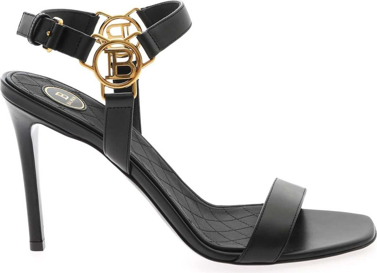 Balmain Pernille Sandals In Black Black