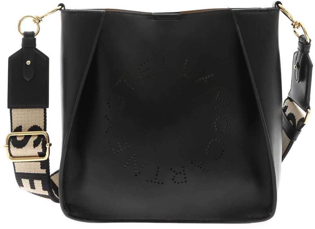 Stella McCartney Logo Mini Bag In Black 700073W85421000 Black imagine b-mall.ro