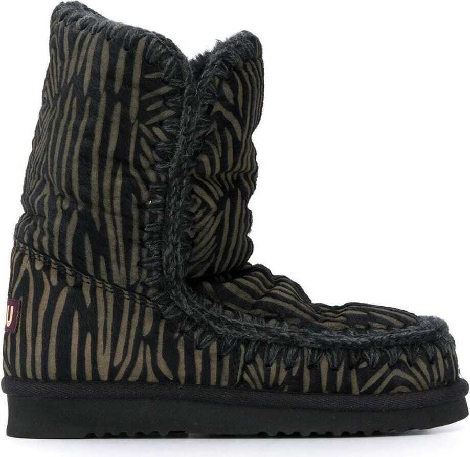 Mou Suede Ankle Boots BLACK