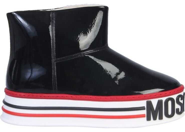 Moschino Polyurethane Ankle Boots BLACK