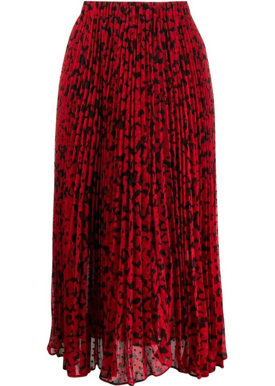 Michael Kors Synthetic Fibers Skirt RED