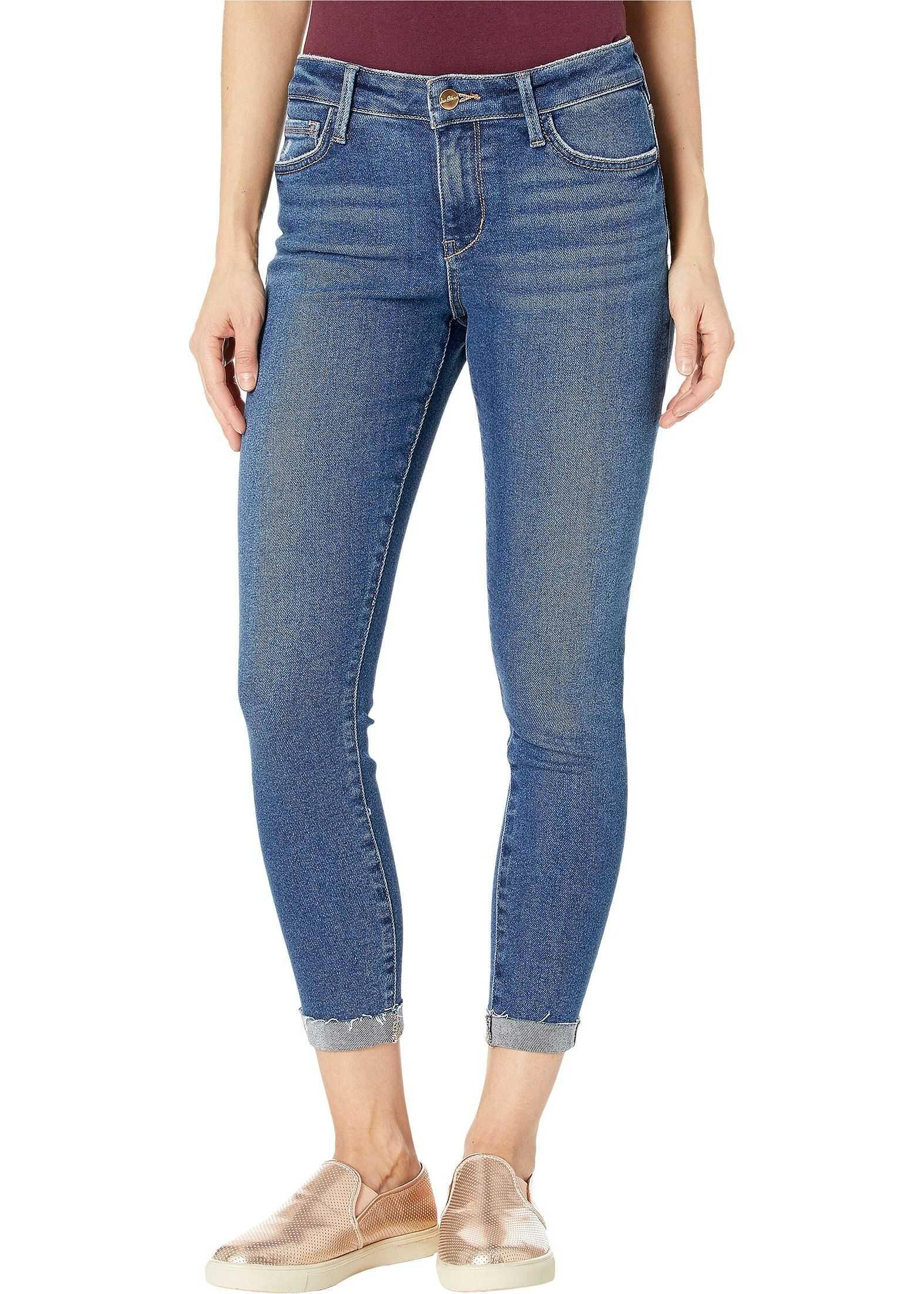 Sam Edelman Kitten Mid-Rise Crop Skinny Jeans in Vista Vista