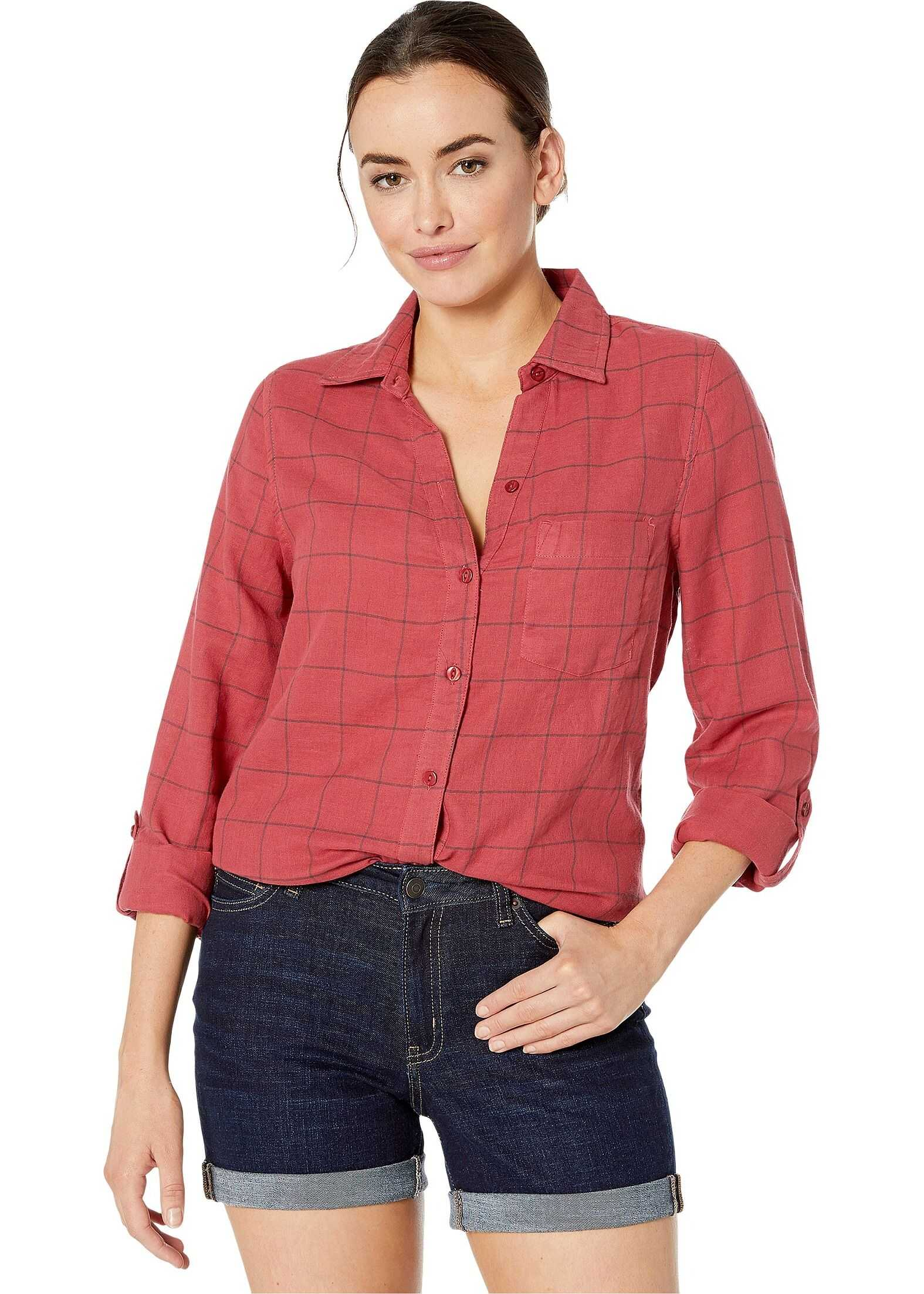 Jag Jeans Long Sleeve Adley Double Cloth Button Up Shirt Tibetan Plaid