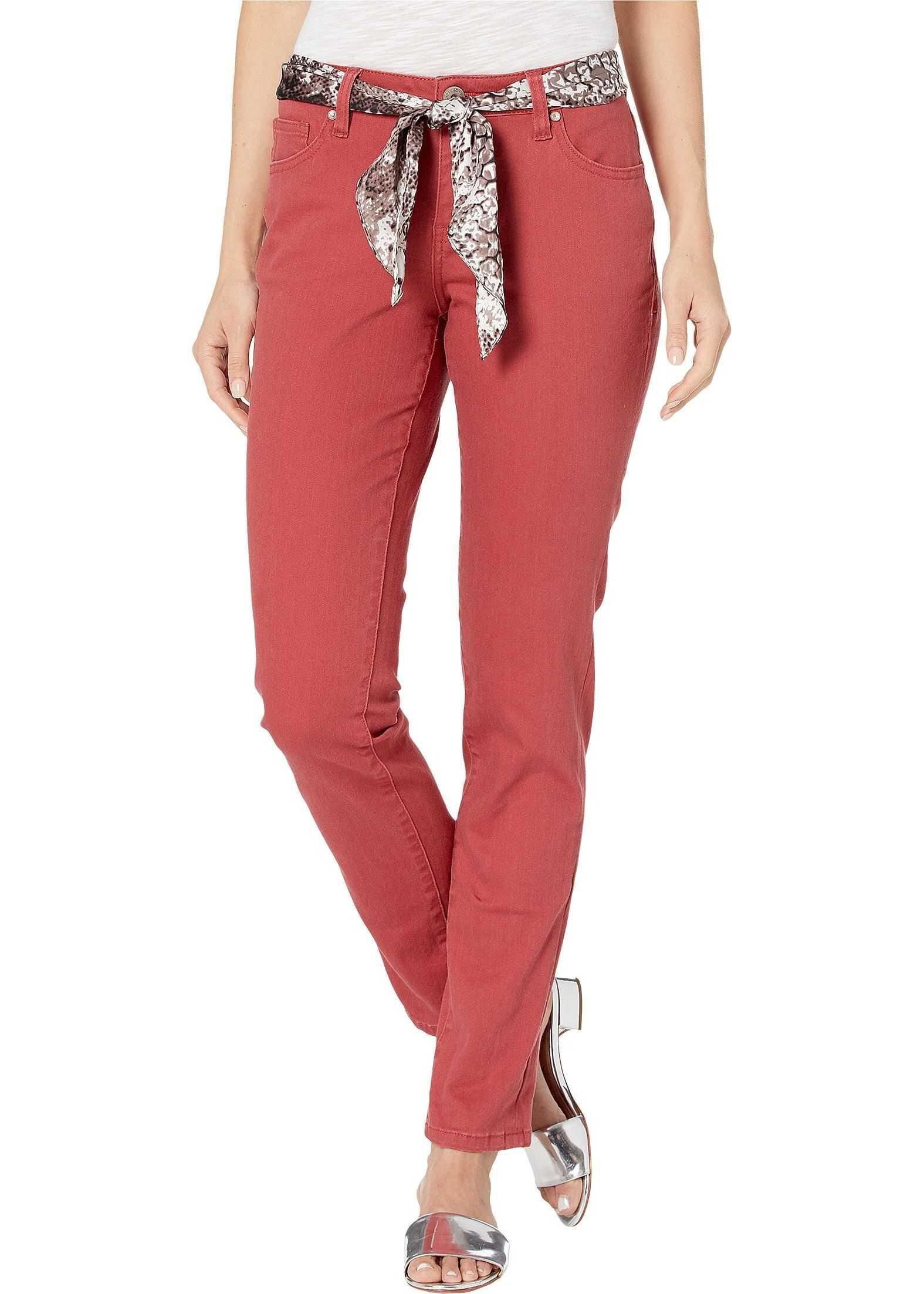 Jag Jeans Carter Girlfriend Jeans with Satin Belt Redwood
