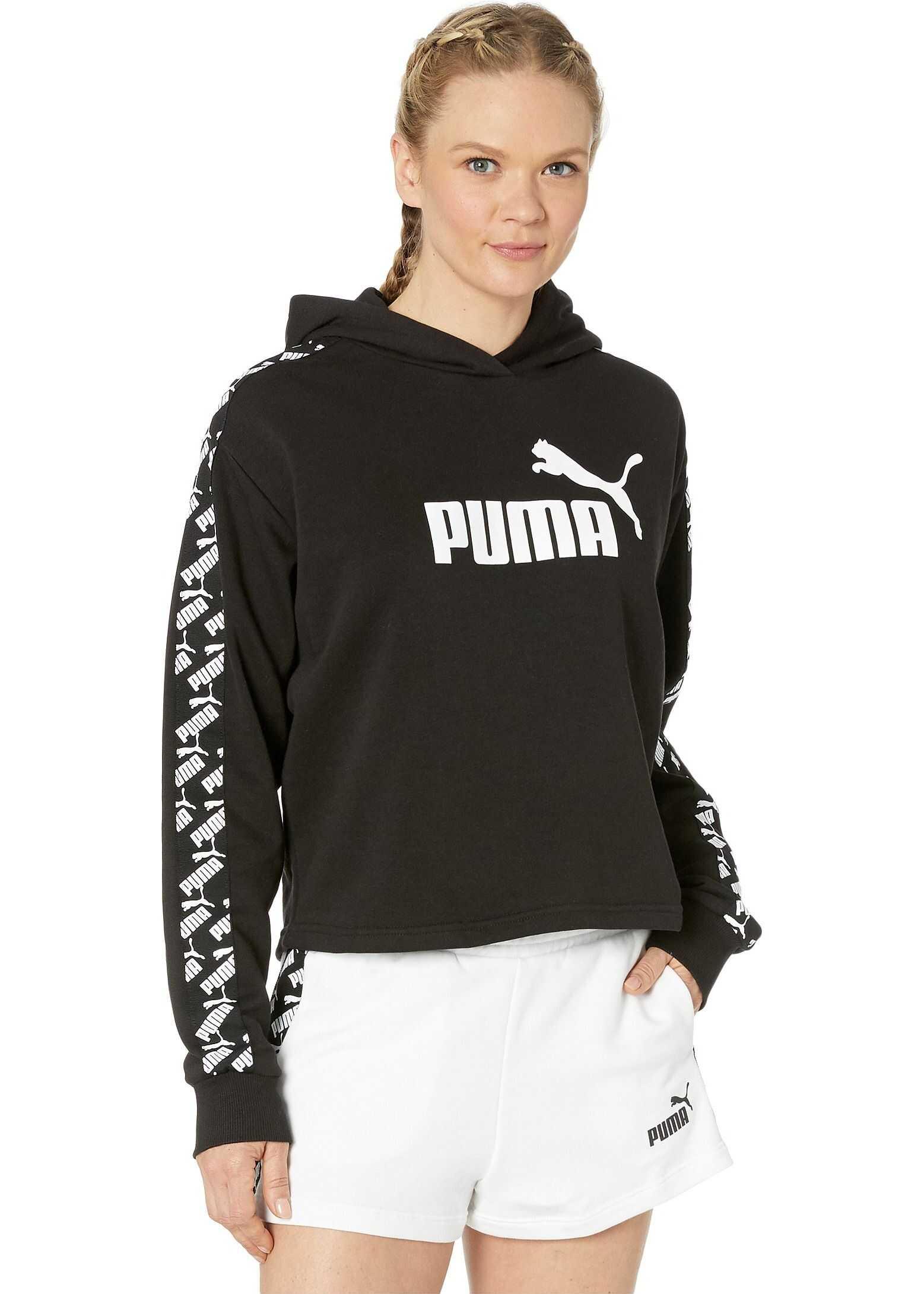 PUMA Amplified Cropped Hoodie PUMA Black