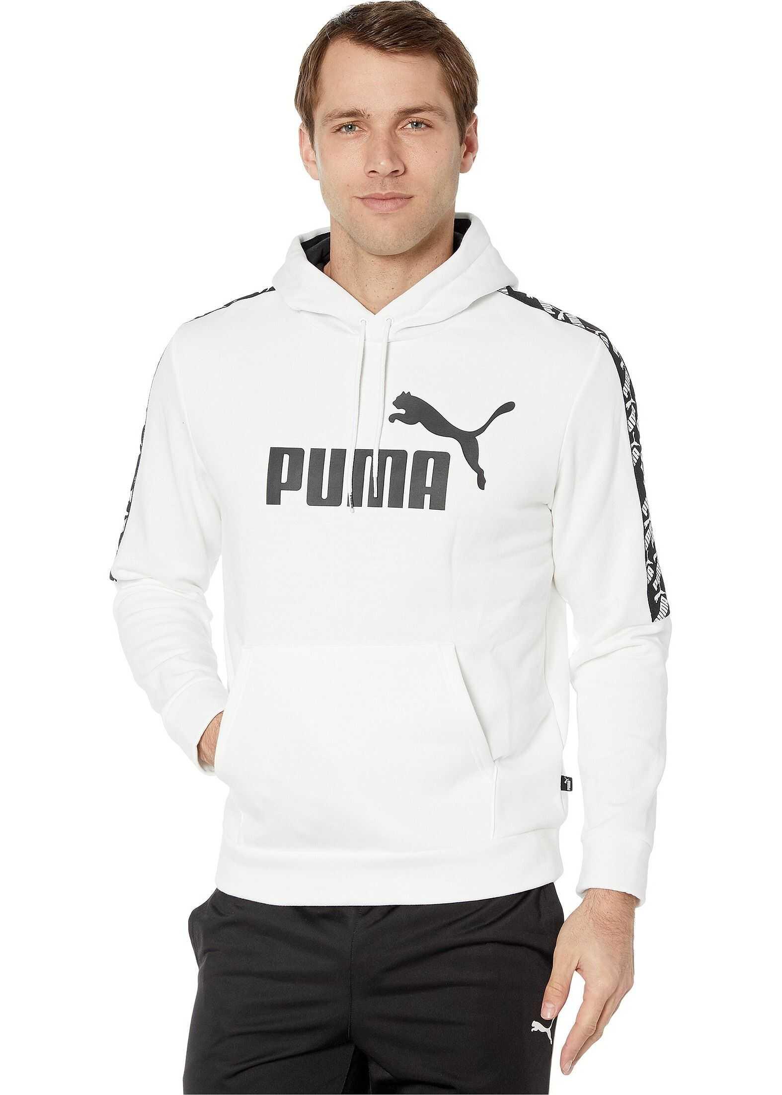 PUMA Amplified Fleece Hoodie PUMA White