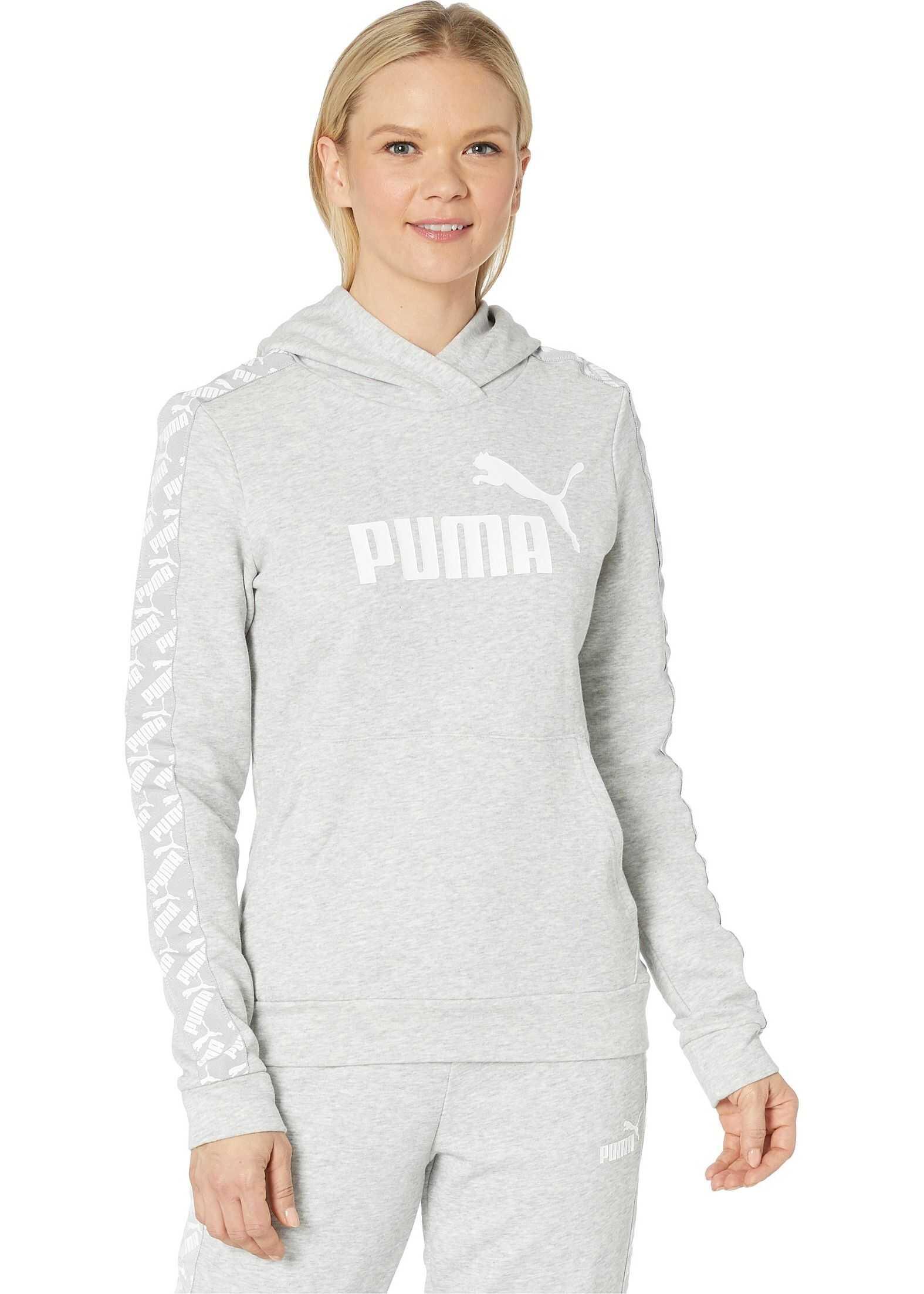 PUMA Amplified Hoodie Light Grey Heather