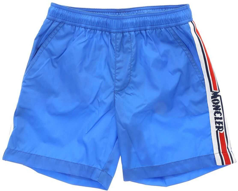 Logo Swim Trunks In Ocean Blue Color thumbnail