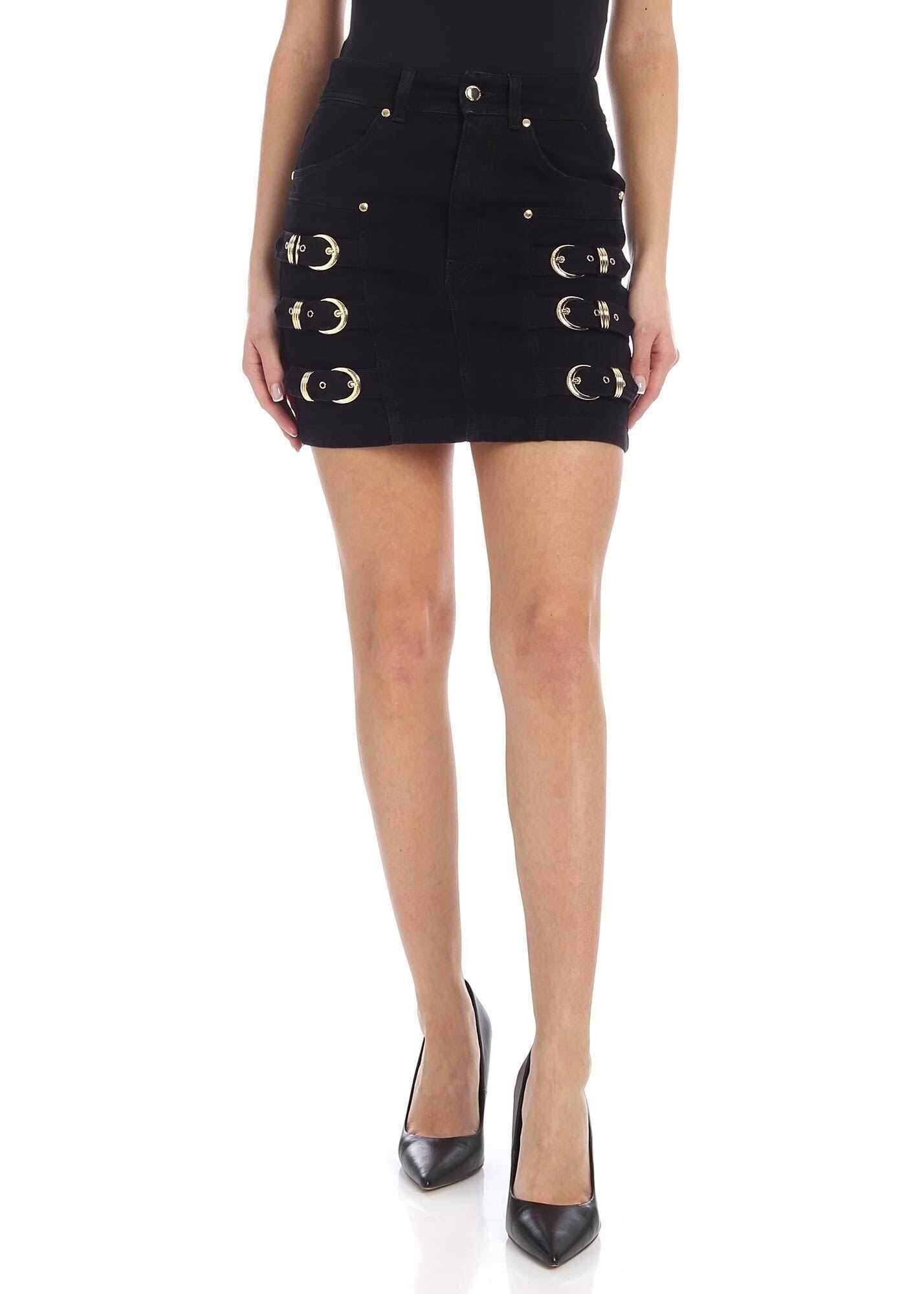 Mini-Skirt In Black With Golden Details thumbnail