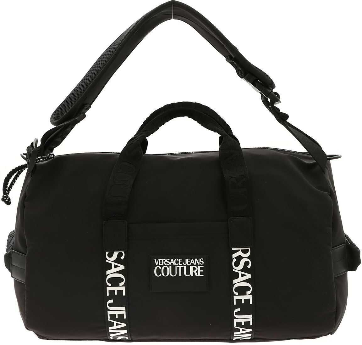 Rubber Logo Tag Duffle Bag In Black thumbnail
