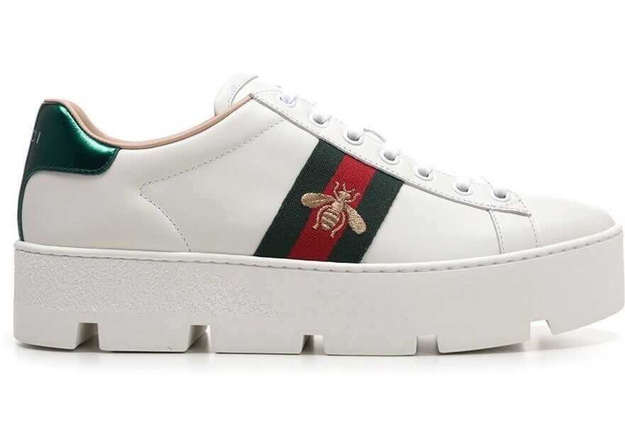 Gucci 577573Dope09064 Leather Sneakers WHITE