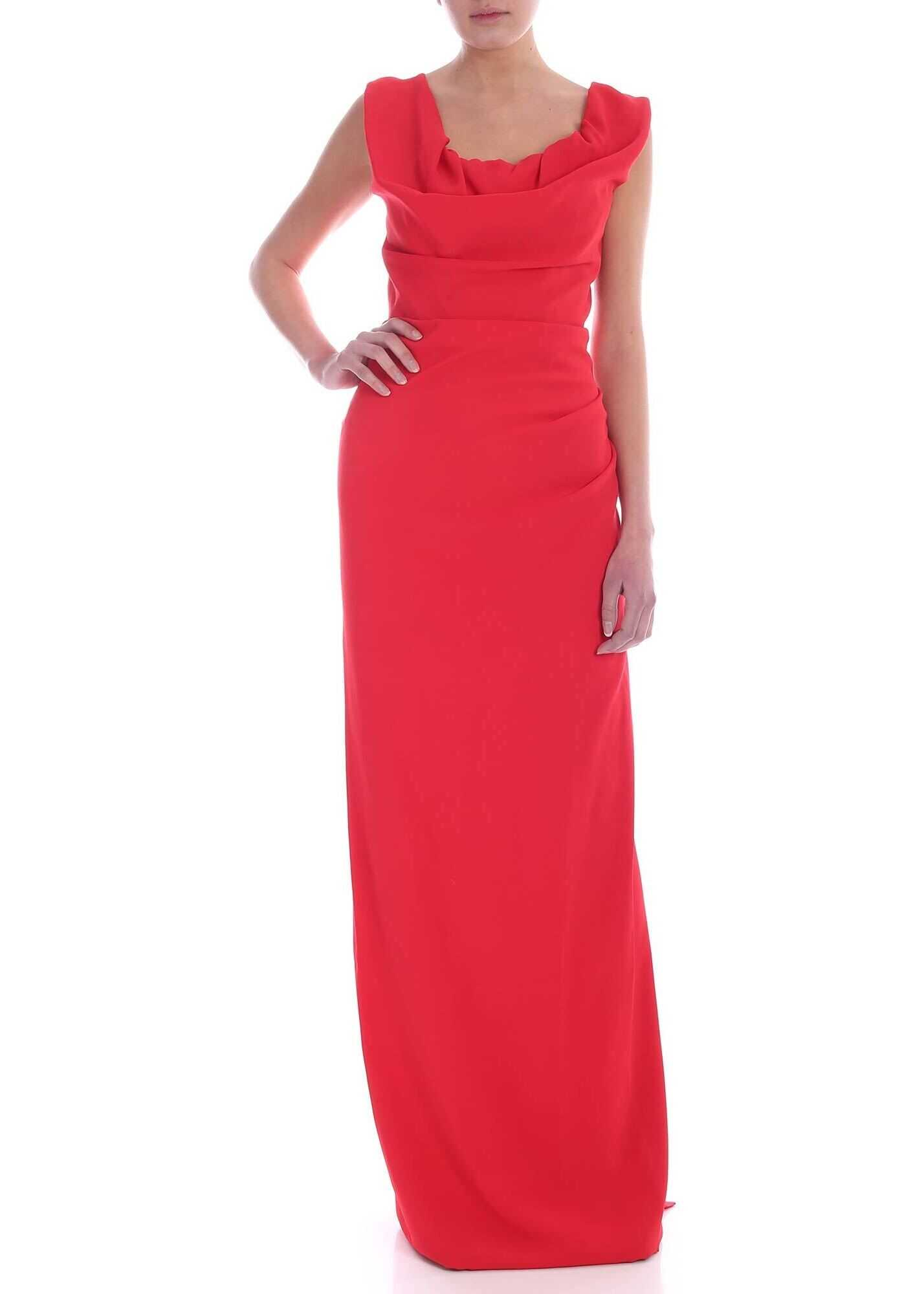 Drapery Dress In Red thumbnail