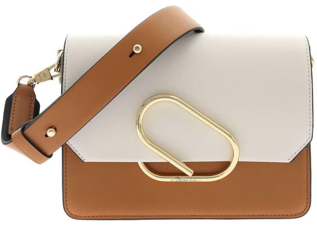 3.1 Phillip Lim Alix Mini Bag In Camel White And Black AE20-A200CBC BLK MULTI Camel imagine b-mall.ro