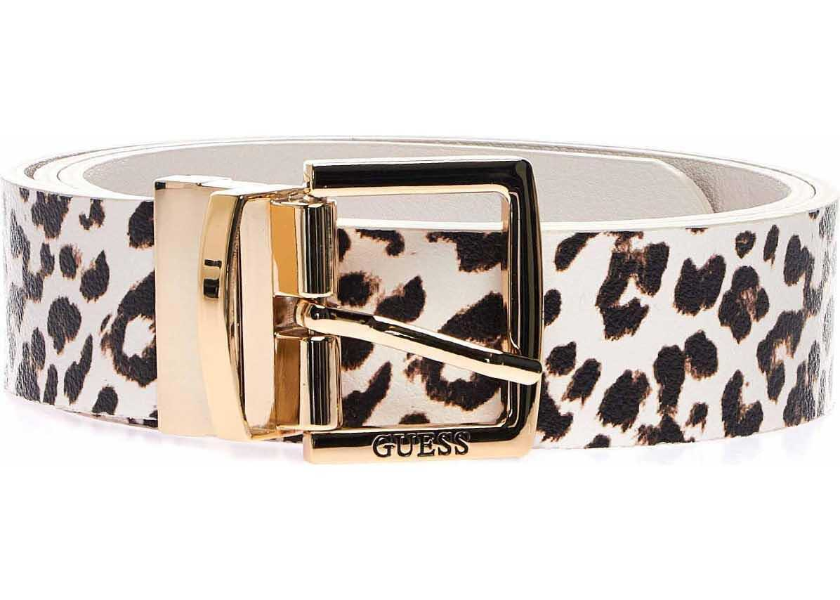 GUESS Faux leather belt Beige