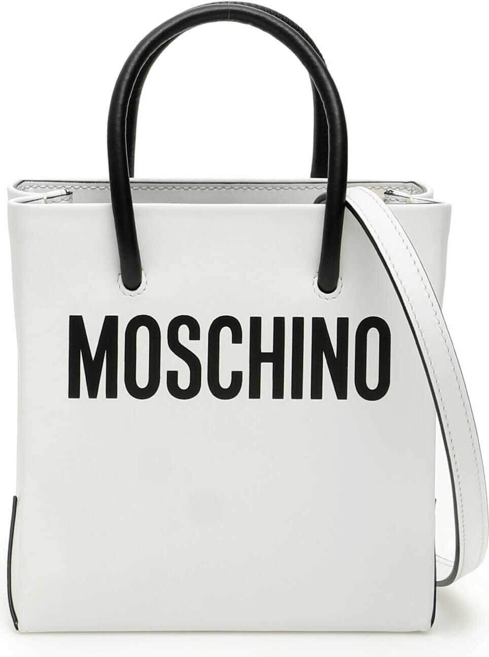 Moschino Mini Shopper With Logo FANTASIA BIANCO