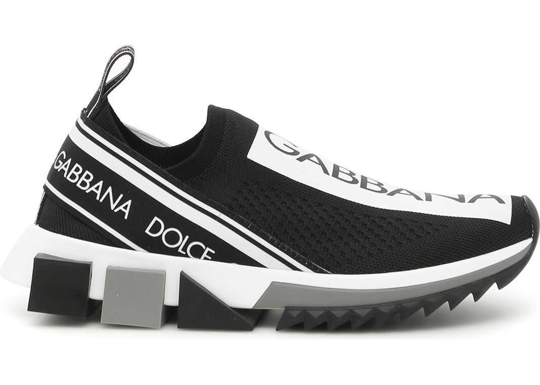 Dolce & Gabbana Running Knit Sneakers NERO BIANCO