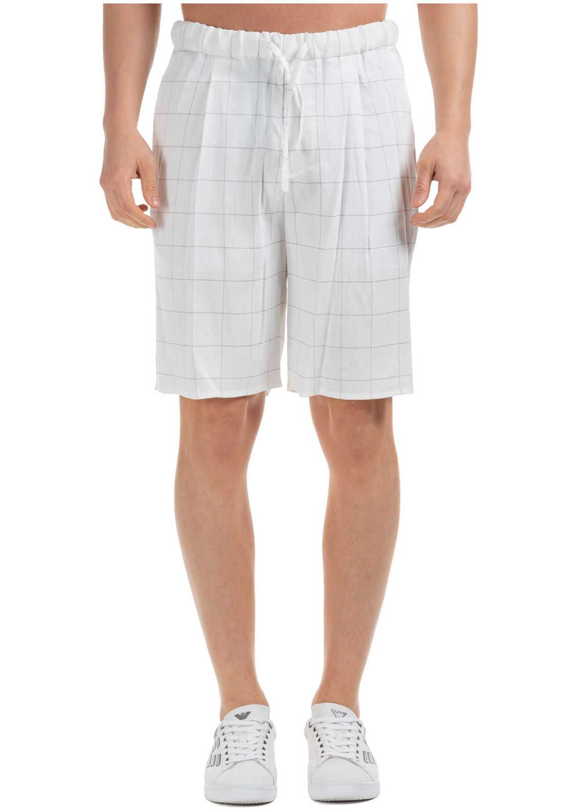 Emporio Armani Shorts Bermuda White