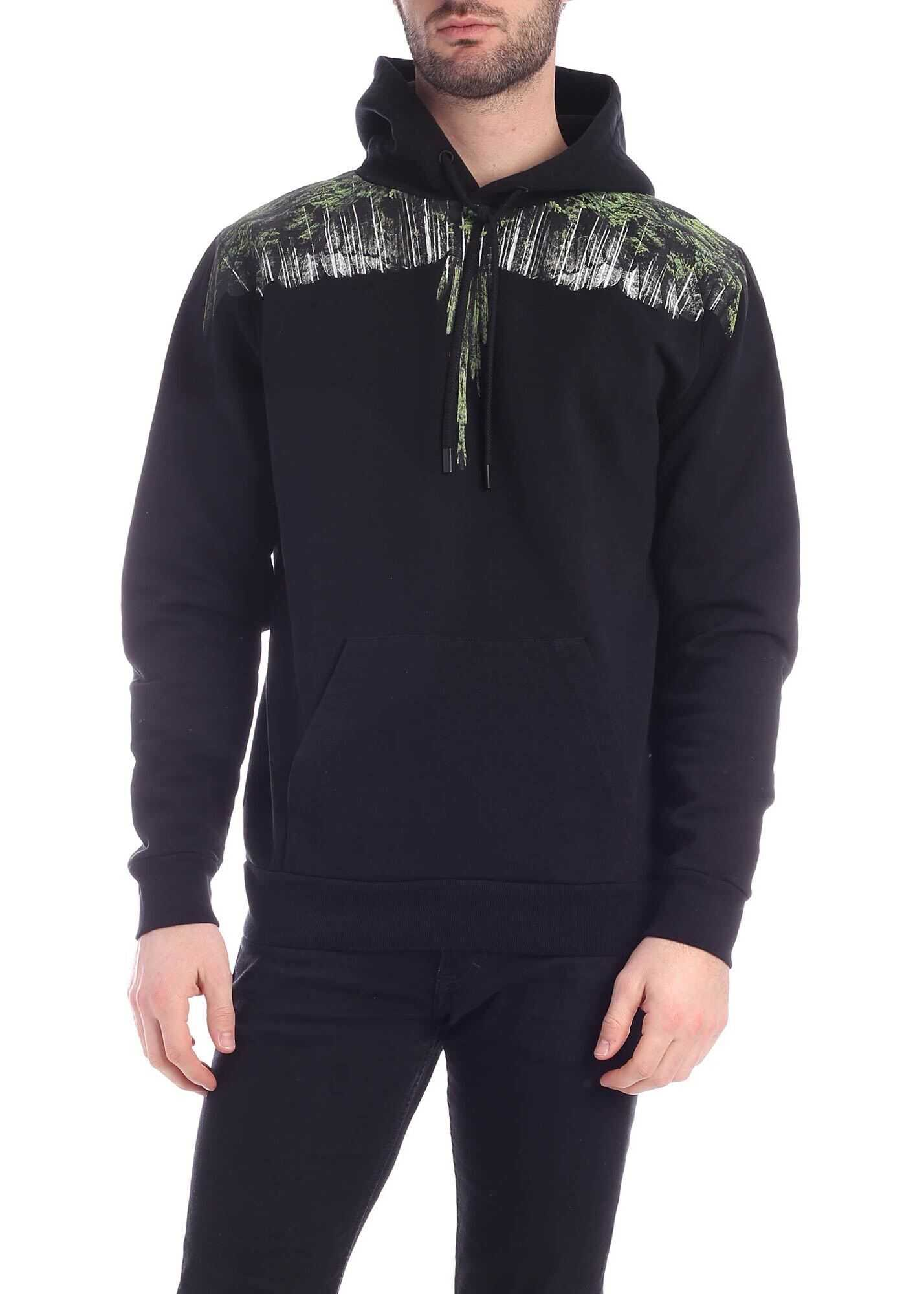 Marcelo Burlon Wood Wings Sweatshirt In Black Black