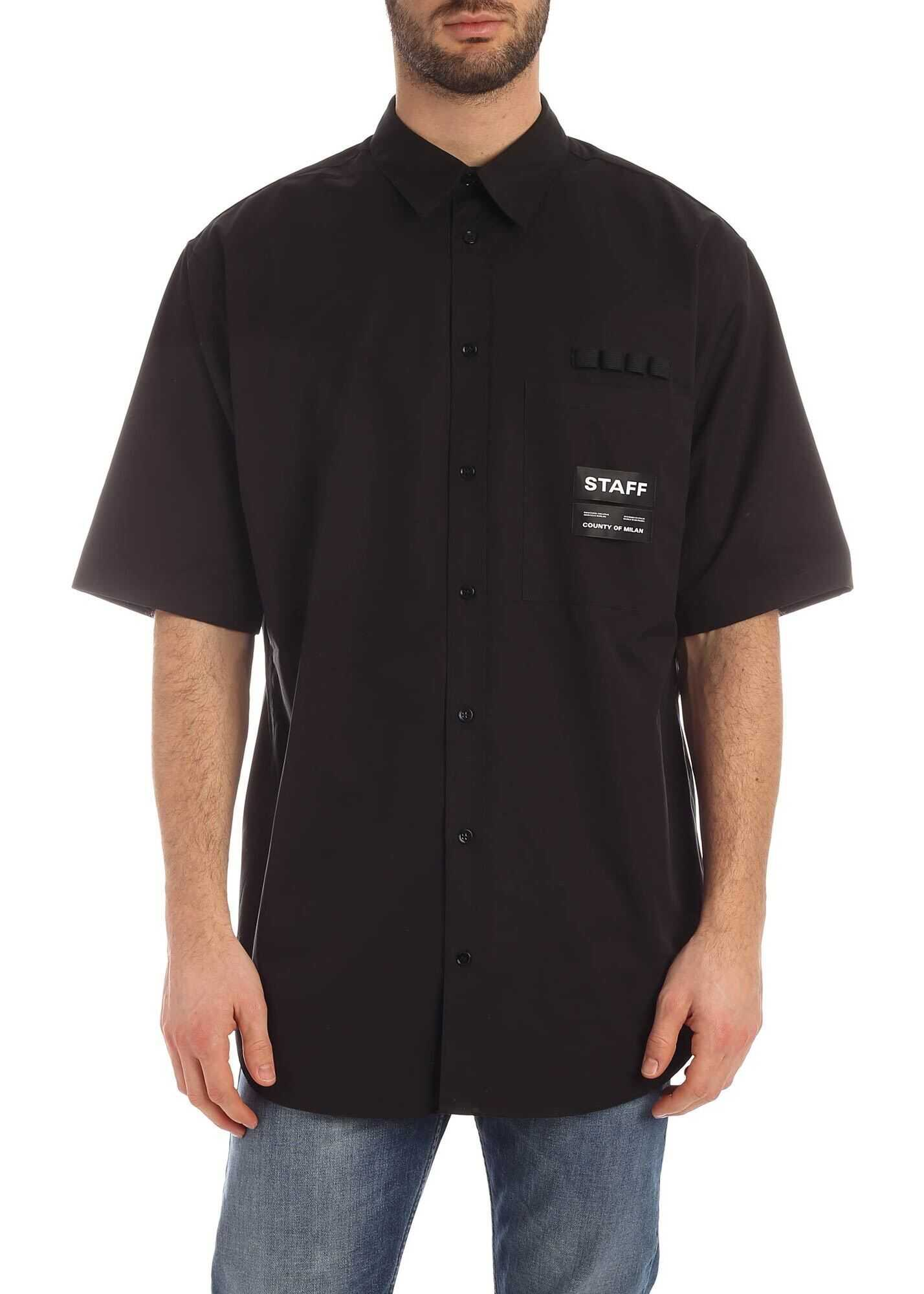 Marcelo Burlon Staff Shirt In Black Black